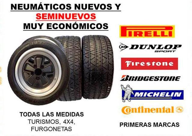 Neumáticos nuevos y de ocasión