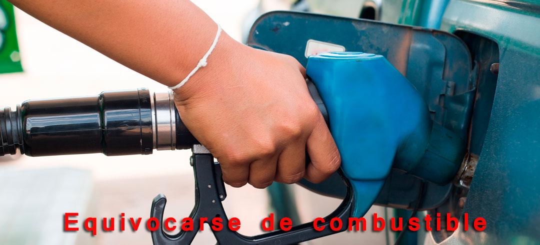 equivocarse de combustible al repostar