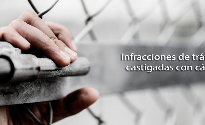 infracciones de tráfico castigadas con cárcel